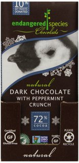 Picture of Chocolate Bar - Dark Chocolate with Peppermint Crunch - 85 g
