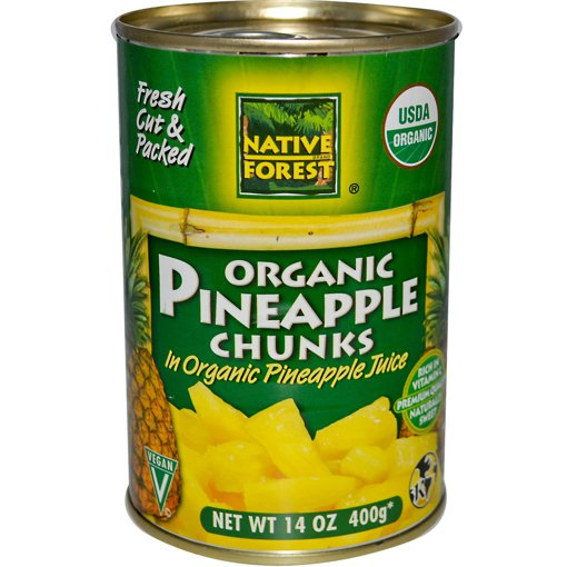Picture of 100% Organic Pineapple Chunks - 400 g