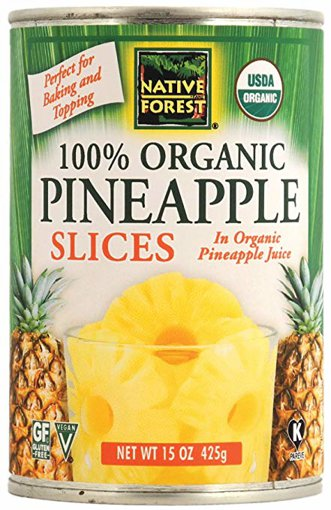 Picture of 100% Organic Pineapple Slices - 425 g