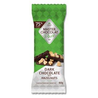 Picture of Chocolate Bar - Dark Chocolate with Hazelnuts - 60 g