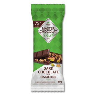 Picture of Chocolate Bar - Dark Chocolate with Pistachios - 60 g
