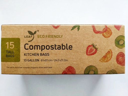 Picture of Compostable Kitchen Bags - Tall - 15 count