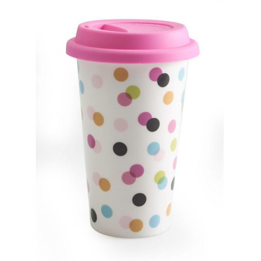 Picture of Good to Go Travel Mugs - Dots - 1 each