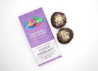 Picture of Protein + Collagen Truffle Bites - Choco Hazelnut - 55 g