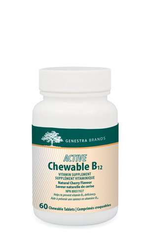 Picture of Active Chewable B12 with L-Methylfolate - 60 chews