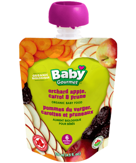 Picture of Organic Baby Food - Orchard Apple, Carrot & Prune 6+ months - 128 ml