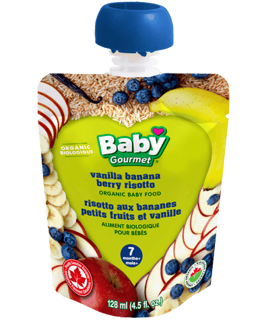 Picture of Organic Baby Food - Vanilla Banana Berry Risotto 7+ months - 128 ml