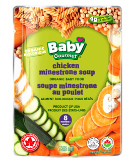 Picture of Organic Baby Food - Chicken Minestrone Soup 8+ months - 128 ml