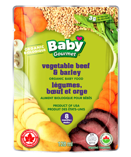 Picture of Organic Baby Food - Vegetable Beef & Barley 8+ months - 128 ml