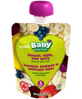 Picture of Organic Baby Food - Banana, Apple, Beet Berry 6+ months - 128 ml