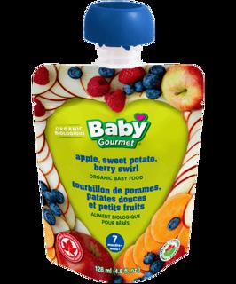 Picture of Organic Baby Food - Apple, Sweet Potato, Berry Swirl 7+ months - 128 ml