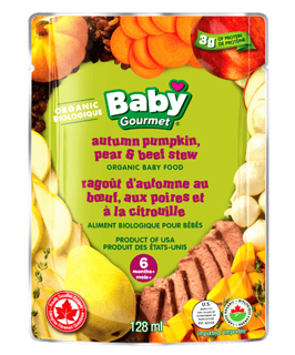Picture of Organic Baby Food - Autumn Pumpkin, Pear & Beef Stew 6+ months - 128 ml