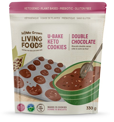 Picture of U-Bake Keto Cookies - Double Chocolate - 330 g