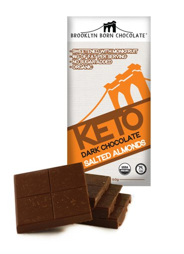 Picture of Keto Dark Chocolate - Salted Almonds - 60 g