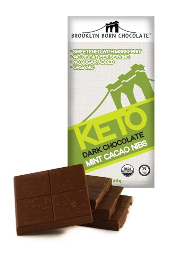 Picture of Keto Dark Chocolate - Mint Cacao Nibs - 60 g