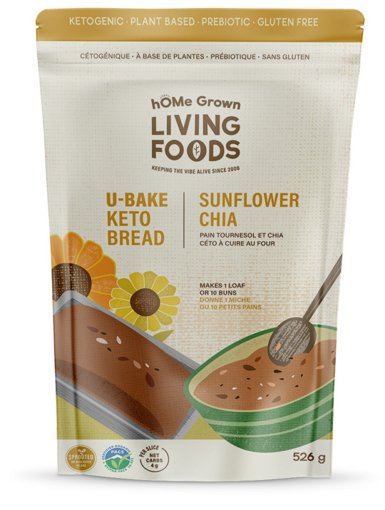Picture of U-Bake Keto Bread - Sunflower Chia - 526 g