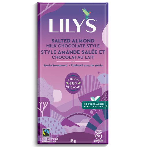 Picture of Milk Chocolate Style Bar - Salted Almond - 85 g