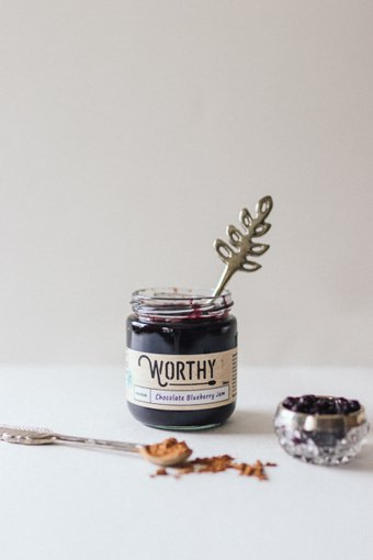 Picture of Jam - Chocolate, Blueberry - 250 g