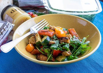 Picture of Grilled Veggie Salad with Toasted Bread
